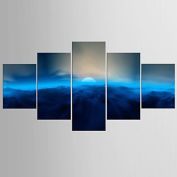 GAG-Decorative paintings@1769 Photographic Print Landscape Modern Classic,Five Panels Canvas Any Shape Print Wall Decor For Home Decoration , include inner frame
