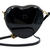 Meliya Womens Girls PU leather Clutch Shoulder Bags Heart Shape Evening Party Crossbody Bag Casual Shopping Travelling Bags