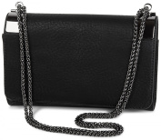 styleBREAKER Clutch Evening Bag with Metal Snap Clips and Link Chain Vintage Design Women's 02012046