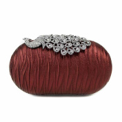Ladies Handbag Peacock Switch Diamonds Dinner Bag Goose Egg-shaped Clutch