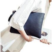 ZOONAI Oversized Clutch Bag Purse, Womens Large leather Evening Wristlet Handbag