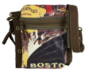Sunsa Women Men's Vintage Bag 2in1 Shoulder Bag Shoulder Bag made of Canvas 51861