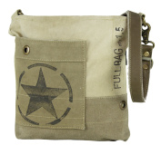 Sunsa Women's Vintage Bag Shopper Shoulder Bag Handbag made of Canvas with Leather 51778