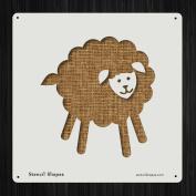 Sheep Lamb Fluffy Farm Animal Style 19387 DIY Plastic Stencil Acrylic Mylar Reusable