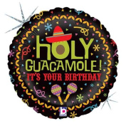 Single Source Party Supplies - 46cm Birthday Holy Guacamole Mylar Foil Balloon