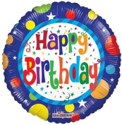 Single Source Party Supplies - 46cm Birthday Dots Mylar Foil Balloon - Pack of 5