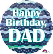 Single Source Party Supplies - 46cm Birthday Dad Mylar Foil Balloon