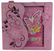 PINK BUTTERFLY SPIRAL BOUND ART NOTE BOOK