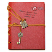 Ai-life Retro Vintage Leather Bound Notebook with Unlined Blank Pages, Daily Notepad Travel to Write in, Unlined Paper, Travellers Writing Journals Diary Notepad Sketchbook
