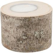 38273 Basswood Tea Light Mini W/Candle 5.1cm - 6.4cm To 8.9cm