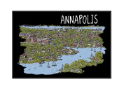 Annapolis, Maryland - Line Drawing
