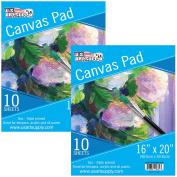 U.S. Art Supply 41cm x 50cm 10-Sheet 240ml Triple Primed Acid-Free Canvas Paper Pad