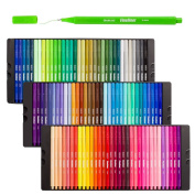Shuttle Art Fineliner Colour Pen Set,100 Colours 0.4mm Fine Line Drawing Pen Fine Point Markers Perfect for Adult Colouring Books and Bullet Journal Art Projects