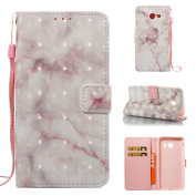 EC-touch Simple Beautiful Colourful Flower [Magnetic] Style PU Leather Case Wallet Flip Stand [Flap Closure] Cover for Samsung Galaxy Series