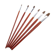 Rose & J Brushes Set for Art Painting Oil Acrylic Watercolour Drawing Craft 6Pcs
