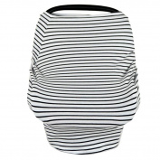 Putars Fashion Portable Baby Car Seat Cover Canopy Nursing Breastfeeding Cover Scarf Multi-Use Stretchy