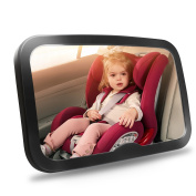 Baby Car Mirror, Safety Car Seat Mirror for Rear Facing Infant with Wide Crystal Clear View- Shatterproof, Fully Assembled, Crash Tested & Certified