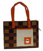 Jute/ Burlap Beach Eco Friendly Purse Bag Zippered Closure Casual Shoulder Handbags