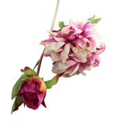 Artificial Flowers,Napoo Bouquet Peony Silk Flower Blossom for Home Garden Decor