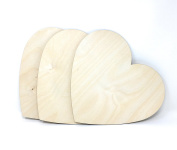 Gocutouts Wooden Hearts 30cm Package of 3 Unfinished Wooden Heart Cutouts