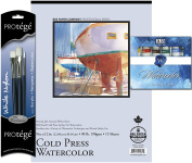 Art Advantage Watercolour Paint, Brushes and Paper Value Pack
