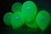 DirectGlow Brand Neon Green 28cm UV Blacklight Reactive Latex Balloons