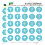 Cross Blue Baby Boy Christening Baptism Shower 2.5cm Planner Calendar Scrapbooking Crafting Stickers - Opaque