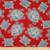 Tommy Bahama Indoor/Outdoor Tranquil Turtles Lava Fabric By The Yard