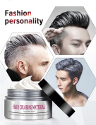 BMK Silver Grey Hair Colour Wax Matte Hairstyle Pomades Disposable Temporary Modelling Natural Hair Styling Wax for Party, Cosplay, Nightclub, Masquerad, Halloween