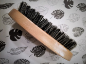 Firm Oval Military Style Natural Boar Beard Brush