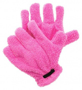 PU Beauty Microfiber Quick-Dry Premium Hair Drying Gloves, Pink, 90ml