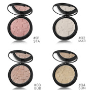 Face Shimmer Illuminating Highlighter Pressed Powder Makeup Palette