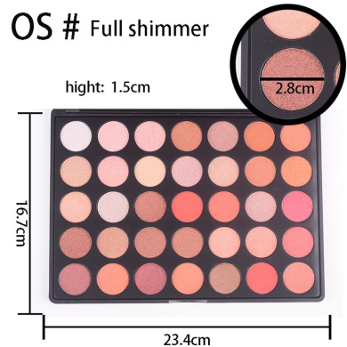 Miskos 35 Colours All Nature Glow Eyeshadow Palette Essential Shimmery 35OS Light Colour Pigment Warm Eyes Makeup Shadow Set
