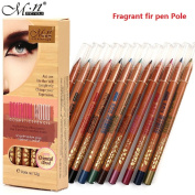 MENOW 12 Colour Eyeliner Woods Lasting Dazzling Colour Makeup Pen Eye Liner