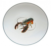Jersey Pottery Seaflower Side Plate 23cm - American Lobster, White