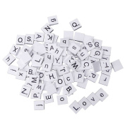 Shaoge 100Pcs Scrabble Tiles Mixed Letters Numbers Crafts Alphabet Scrabbles Game Kid