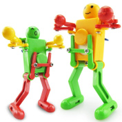 Iuhan Cool Clockwork Wind Up Dancing Robot Toy for Baby Kids Developmental Gift Puzzle Toys