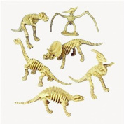 US Toy - Assorted Dinosaur Skeleton Toy Figures, Made of Plastic,