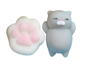 2PCS Soft Cat Squishy Claw Paw Healing Squeeze Fun Kid Toy Gift Stress Reliever Decor