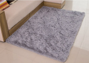 Weimanshop Soft Anti-skid Carpet Floor Mat Shaggy Rug Living Room Bedroom Decor 100cm x 150cm Silver Grey
