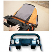 Daorier Organiser Buggy Bag Baby Changing Bag Pushchair Universal Black with Drink Holder Cup Holder