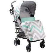 My Babiie MB51 Mint Chevron Stroller - Includes Raincover