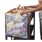 Nikgic Bedside Baby Storage Bag Nappies Organiser Bag Baby Dirty Clothes Organiser With Hanging Over