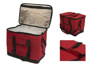 NEW RED XL 30L LITRE 60 CAN INSULATED COOL BAG PICNIC CAMPING BEACH LIGHTWEIGHT