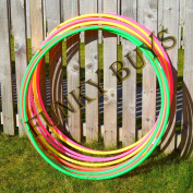 "FunkyBuys® 4pk Quality Adults Kids Solid Multicolor Small Large Hula Hoops DIA:55cm (21"" Inches) Sporting Good Fitness"