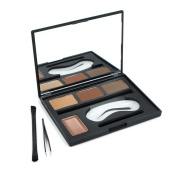Miskos 4 Colours Eyebrow Shaping Powder Cream Palette With Double Brush Brow Tweezers Makeup Kit