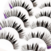 Clode® 5 Pairs Fake Eyelashes, Multipack Natural 3D False Eyelashes – Fashion Makeup Eyelashes Extension