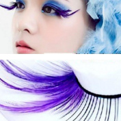 Clode® Fashion Long Thick Exaggerated Drama Stage Dressing Party Feather False Eyelashes For Makeup 1 Pair Pack