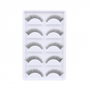 Clode® Fashion 5 Pairs Long Thick False Eyelashes Pure Hand-made Crossed Long Voluminous Fake Lashes Eye Lash Extension