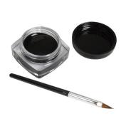 Beauty Top 2 PCS Mini Eyeliner Gel Cream With Brush Makeup Cosmetic Black Life Waterproof